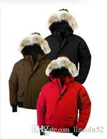 Wholesale Women S Fur Hoods - Men Women Parkas WINTER CANADA Down & Parkas WITH HOOD Snowdome jacket Brand Real Raccoon Fur Collar White Duck Outerwear & Coats