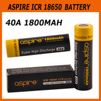 Wholesale Icr Batteries - Authentic Aspire ICR 18650 Battery 40A 1800mah 2600mah battery Fit 100% Genuine Smok GX350 Alien Al85 TC Box Mod 2210044