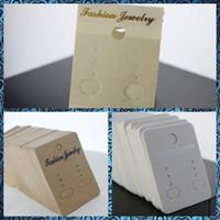 mostrar etiquetas de plástico al por mayor-Pendientes de joyería Pendientes de botón para colgar Colgador Mostrar Tarjetas colgantes Las etiquetas de plástico tienen 3 colores, compras gratis