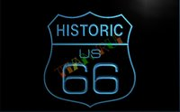Wholesale Route 66 Neon - LK096-TM Route 66 Historic Bar Beer Neon Light Sign. Advertising. led panel, Free Shipping, Wholesale.jpg