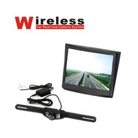 """Wholesale Wireless Rearview Camera Systems - DHL free shipping wireless car rearview camera system 3.5"""" screen car Monitor Waterproof backup Camera Parking System Kit Wide Angle"""