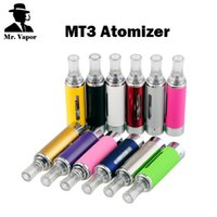 Wholesale Changeable Heating Coil - Evod MT3 Vaporizer Electronic Cigarette Atomizer 510 eGo Thread 2.4 ml Changeable Coil Head Bottom Coil Heating For Ego T EGO W