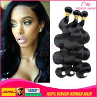 düz dalgalar saç toptan satış-En qualit 7A Brezilyalı Bakire remy vücut dalga Saç 3 Demetleri karışmayan ücretsiz dökülme ücretsiz yumuşak pürüzsüz remy İnsan Saç Dokuma ücretsiz DHL