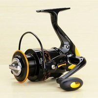 Wholesale Soft Bait Reels - New Super Strong Fishing Reel Pre-Loading Spinning Wheel 2000 9000S Black Yellow 12+1 BB 200 600g Soft Plastic Handle