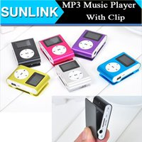 "Wholesale Clip Mp3 Player Earphone - Mini Clip Mp3 player with 1.2"" LCD screen Metal style Support Micro SD card and TF slot with earphone USB Charging Cable"