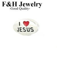 Wholesale Cheap Locket Charms - 2015 Diy jewelry floating lockets charms cheap I love jesus floating charms for living locket FHY165