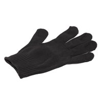 Wholesale Anti Slash - 1Pair Black Stainless Steel Wire Safety Works Anti-Slash Cut Resistance Gloves