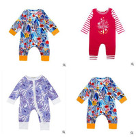 Wholesale Best Toddler Clothes - Romper Christmas Toddler Infant Baby Boys Girls Long Sleeve Clothes Red Plaid Deers Jumpsuit Clothes Outfits Best Gifts DHL Free Shipping