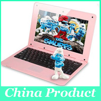 Wholesale Laptop Pink Keyboard - 10.1 inch Windows 10 Win10 Laptop Tablet PC keyboard case Intel Baytrail-T Quad Core Bluetooth Wifi HDMI 1GB DDR3 16GB Webcam 010250