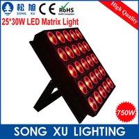 Wholesale Dot Matrix Led Rgb - Wholesale-25*30W RGB 3in1 LED Matrix Light LED Dot Matrix Pixel Wall Washer Light Stage Effect Light for Disco Nightclub Party SX-WL2530