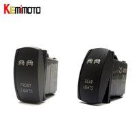 Wholesale Light Yamaha Front - Wholesale- KEMiMOTO 1 SET For Polaris RZR XP 1000 UTV Blue Ranger Rocker Switch Backlit LED Front and Rear Light Switch 2015 For Yamaha