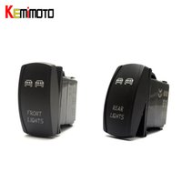 Wholesale led utv lights - Wholesale- KEMiMOTO 1 SET For Polaris RZR XP 1000 UTV Blue Ranger Rocker Switch Backlit LED Front and Rear Light Switch 2015 For Yamaha