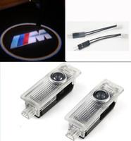 luces de la sombra del bmw al por mayor-LED Logotipo del coche Puerta Proyector Láser Bienvenido Ghost Shadow Light Para BMW M E60 E90 F10 GT X5 X6 X3 Z4 E85 M5