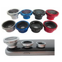 Wholesale One Lp - 100 pcs lot Universal clip lens 3 in one photo lens for iphone samsung htc ipad tablet pc laptonps LP-3001