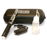 Wholesale Ego Case Needle Bottle - E-cigarette eGo-T 650mah 900mah 1100mah CE4 eGo Zipper Case Starter Kits come with USB Cable Charger Needle Bottle Free Shipping