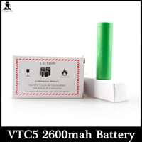 Wholesale Wholesale Lion Batteries - US18650 VTC5 2600mAh Battery 3.7V 30A High Drain VTC5 L-lion Battery GREEN Electonic Cigarette Power Tool E Cigarette Batteries
