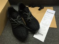 Wholesale Fishing Flats Boots - Kanye West Boost 350 Running shoes men women shoes Brand Sports Shoes Store With receipt Box Moonrock Pirate Black Turtle Dove