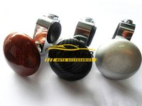 Wholesale steering spinners - 50pcs lot Carbon Car Steering Wheel Spinner Knob Auxiliary Booster Ball Assist Device Hand Control Knob Booster Car Accessories