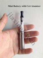 ingrosso elettronica di sigaretta mini ce5-Liquidazione Mini Ego T Batteria 350mAh per sigaretta elettronica Ce4 Ce5 Ce6 Atomizzatore Clearomizer