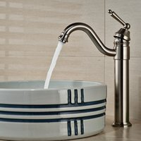 Wholesale Basin Mixer Taps Swivel Spout - Wholesale And Retail Luxury Nickel Brushed Bathroom Basin Faucet Swivel Spout Vessel Sink Mixer Tap Hot and Cold Water