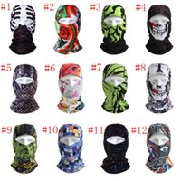 Wholesale Uv Face Caps - Outdoor Sports Bicycle Cycling Motorcycle Masks Bike Hood Hat Veil UV Protect Full Face Mask Breathable Scarf Cap 12type