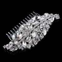 "Wholesale Hair Headpiece Wholesale - 4.7"" Vintage Style Dark Silver Tone Leaf Shape Elegant Bridal Hair Comb Accessory Wedding Headpiece Jewelry"