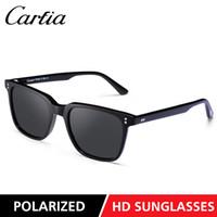 nouvelles lunettes de soleil pour femmes achat en gros de-Carfia Nouveaux 5354 hommes lunettes de soleil lunettes de soleil rectangle lunettes de soleil au volant pour les femmes polarisants 51mm 3 couleurs avec boîte d'origine