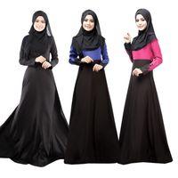Wholesale Hot Muslim Women - Hot sale Muslim dress Abaya Turkish women clothing islamic abaya jilbab musulmane vestidos longos hijab clothing dubai kaftan longo Black