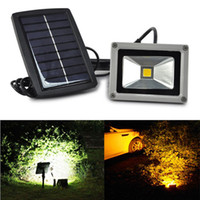 Wholesale Led Flood Lights Bulbs - Promotion 10W Solar Power LED Flood Night Light Waterproof Outdoor Garden Decoration Landscape Spotlight Wall Lamp Bulb