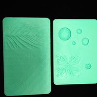 Wholesale Groove Boards - Silicone Baking Mould Cake Fondant Baking Flower Tools Petal And Leaves Veining Grooves Board For Kithen Suppies Green 23dl C