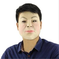 Wholesale Woman Realistic Mask - Free shipping 2017 Party Cosplay Female mask latex silicone realistic human skin masks Halloween dance masquerade Women Man mask wholesale
