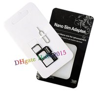 Wholesale Iphone5 Pin - 4 in 1 Nano Sim Card Adapter + Sim Card Tray Eject Pin Key,Micro Sim adapter for iPhone5 5s 4 4s with retail package,DHL Fast Free Shipping