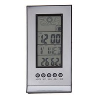 Indoor Outdoor Wireless Wetter Thermometer Station Tägliche Uhr Snooze Prognose Kalender Drop Shipping Großhandel