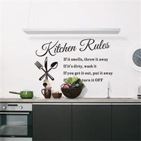 Graphic Vinyl PVC Animal DIY Kitchen Rules Wall Sticker Home Art Decal Home  Decor Words Stickers