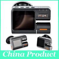 Wholesale Dual Lens Dashboard Dash Camera - Dual Lens Camcorder i1000 Car DVR Dual Camera HD 720P Dash Cam Black Box With Rear 2 Cam Vehicle View Dashboard Cameras 002780