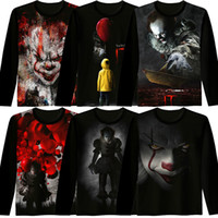 Wholesale Movie Crew - 2017 new New movie IT Pennywise Clown Stephen King 1990 2017 Horror Movie top Coat mens Clothes cosplay costume black Hoodies