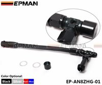 Wholesale Fuel Line Kits - EPMAN Lightweight aluminum AN8 Braided Stainless Steel Adjustable Dual Feed Fuel Line Kit (Default color is black) EP-AN8ZHG-01