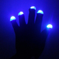 Wholesale luminous gloves - Luminous Nylon Gloves Good Flexibility LED Light Up Glove For Dance Party Gala Show Supplies 7 9hg B R