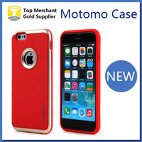 Wholesale Iphone Armor Neo - Luxury MOTOMO case 3 in 1 neo Armor Hybrid PC TPU Case For Iphone 6 6S Plus Samsung S6 Edge A8 back covers