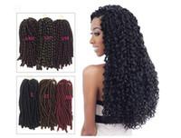 pigtail perukları toptan satış-Boş Kalp Kirli Örgülü Peruk Kadın Yumuşak Dread Kilit Afrika Siyah Pigtailler Sentetik Saç 3 Renkler 14 Inç