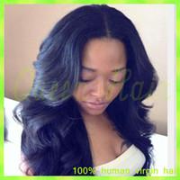 african american glueless peruklar toptan satış-6A Işlenmemiş Bakire Brezilyalı Saç Afrika Amerikan Tutkalsız Tam Dantel Peruk / Siyah Kadınlar Için Dantel Ön İnsan Saç Peruk
