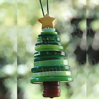 15pcs / LOT.Button kit albero di artigianato, artigianato Button, alberi di Natale, regali di X'mas, Natale crafts.Promotion.Cheap.2x4.5cm