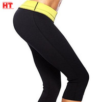 Wholesale High Waist Pant Body Shaper - free pp New HOT S-XXXL Womens super stretch neoprene slimming pants Thermal body Shaper Control Panties Compression Sports Pants