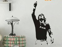 En gros 615mm * 1180mm Nouveau Wall sticker TOTTI A.S. Roma Serie A Football Wall Mural Decal Home Decor Art Vinyle
