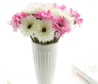 Wholesale Artificial Pink Gerbera - Artificial silk gerbera chrysanthemi flower chrysan home and party decorative flowers festive and party hot sell artificial flowers SF0710