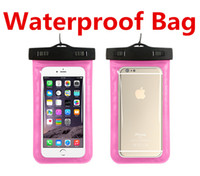 Wholesale Wholesale Lanyards Plastic Pouch - Waterproof Bags With Lanyard Sports Diving Pouch Case Water Proof Bag Underwater Dry Case Cover For Universal iPhone 6 Plus Samsung