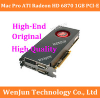 Alta qualità 100% originale per Mac Pro ATI Radeon HD 6870 1GB PCI-E scheda video macpro high -end scheda grafica $ 18no track