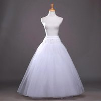 Wholesale Wedding Weaves - 2017 Hot Summer A Line White Wedding Petticoats Underdress Bridal Slip for Wedding Dresses Bridal Petticoats CPA212