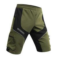 Wholesale Bmx Pants - 2016 WOSAWE Cycling Shorts Men bikes Moto Shorts Bicycle Cycling shorts Reflective Pantalon MTB BMX DOWNHILL Motorcross Short Pants S~XXL