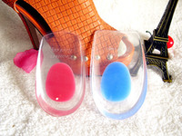 Wholesale Cushion Arch Support Shoe Inserts - 1000pcs 500pairs Silicone Gel Cushion High Heel Shoes cups Insert Insole Foot Arch Care Calcaneal Spur Half Insole Cup Support Pad